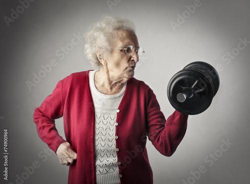 Leinwandbild Motiv A strong grandma