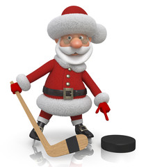 Santa Claus hockey player