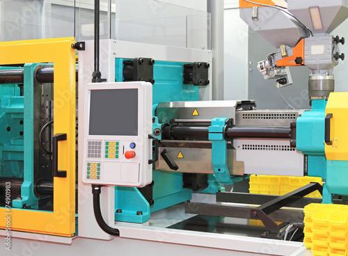 Leinwanddruck Bild Injection moulding machine