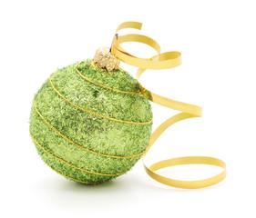 Christmas Ball & Gold Ribbon