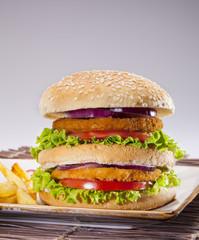 double tavuk burger creative