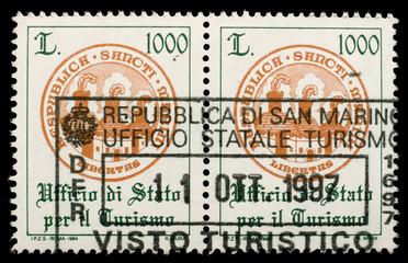 San Marino Customs stamp