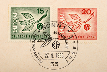 Vintage German postage stamps