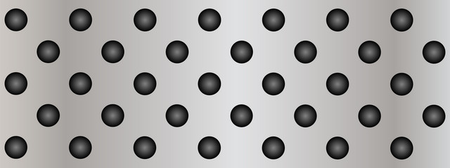 Metal perforated texture background banner