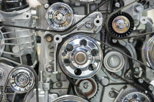 Leinwanddruck Bild Close up of car engine