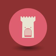 Castle symbol, vector