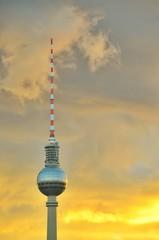 Fernsehturm Berlin Sunset