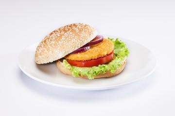 tabakta tavuk burger