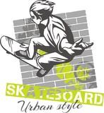 Fototapety Skateboarding - urban style, vector illustration