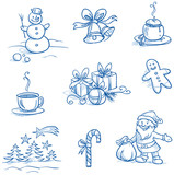 Christmas scenes and Icons set – Snowman - 74904972