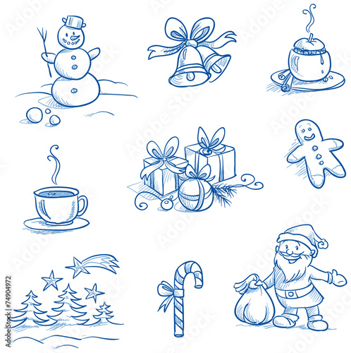 Christmas scenes and Icons set – Snowman