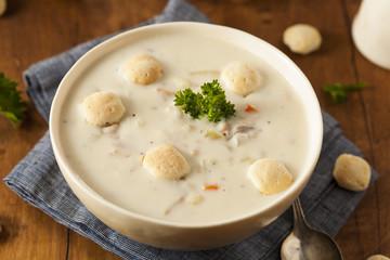 Homemade New England Clam Chowder