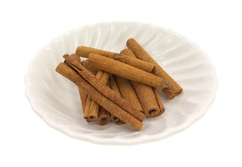 Cinnamon Stick Group Side View In Bowl