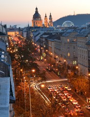 Andrassy street from above with Basilica