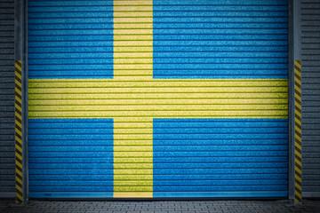 Schwedisches verzinktes Stahltor (swedish roll-up door)
