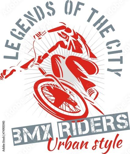 BMX bike - vector illustration - 74905140