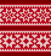 Knitted patterns with nordic stars