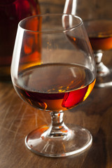 Amber Brandy in a Glass
