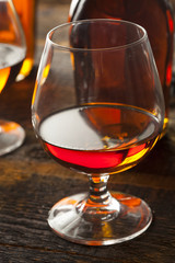 Amber Brandy in a Glass