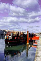 péniche quai de Rhône
