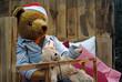 Papa Teddy Bär geht ins Bett