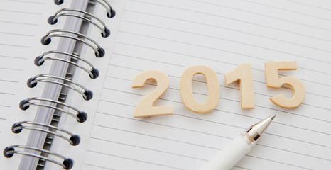carnet a spirales 2015 stylo bille