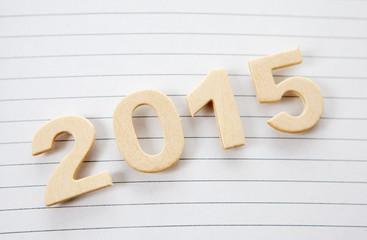 feuille lignée cahier de 2015 nouvel an
