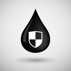 Oil drop icon with a shield