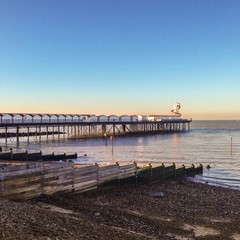 Herne Bay Pier in the late afternoon winter sun.
