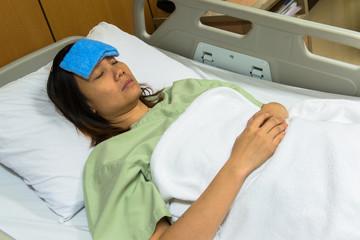 Sick patient on gurney