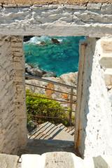 Window at a beach, Skopelos