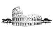 Leinwanddruck Bild - Colosseum in Rome, Italy. Landmark Coliseum, city landscape.