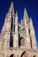 Facade of Cathedral of Burgos, Spain