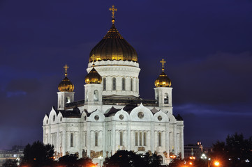 Cathedral of Christ the Savior, Moscow at night