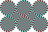 Optische Täuschung Winter Farben