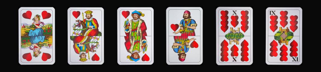 Spielkarten - Schnapskarten - HERZ
