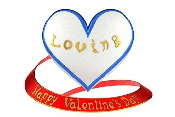 Happy Valentine's Day on a white background.
