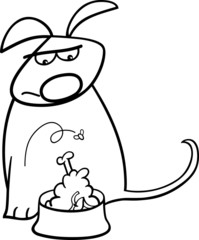 dog and nasty food coloring page