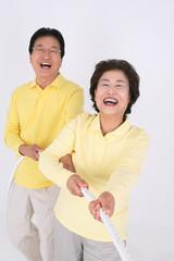 즐거운 노부부의 일상생활