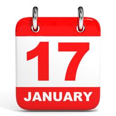 Calendar. 17 January.