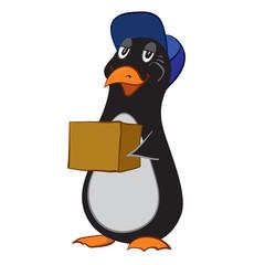 vector illustration of a cartoon penguin