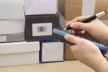 Handheld Computer for barcode scanning identification
