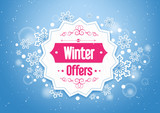 Fototapety Elegant Winter Offers in Snow Flakes Background