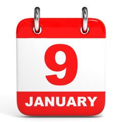 Calendar. 9 January.