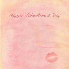 happy valentine's day mit kuss