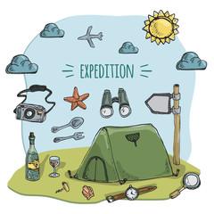 hiking illustration