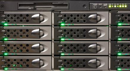 Disk array full of hard disk