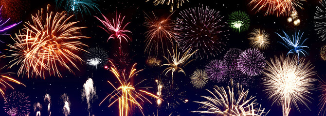 Colorful firerworks