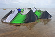 power kites on a beach