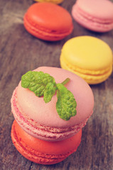 macarons with different colors and flavors